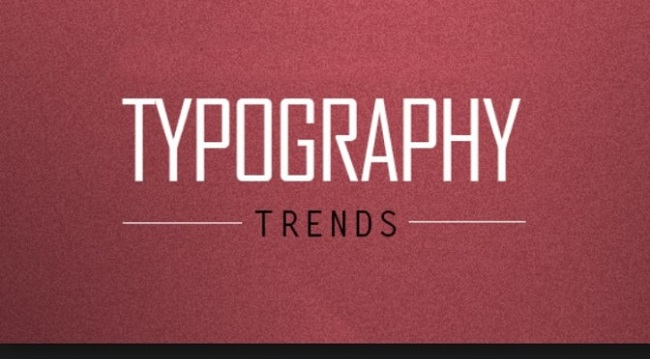 typography trends